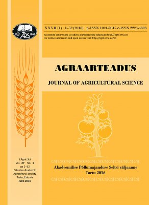 Agraarteadus. Journal of Agricultural Science